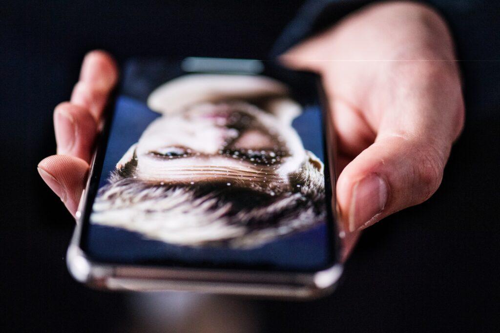 En smart telefon med face recognition