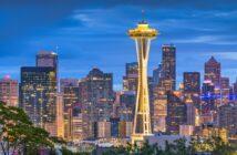 Seattle i Washington skyline